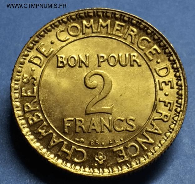 2 francs domard chambre de commerce 1922 spl ctmp numis for Chambre de commerce francaise en turquie