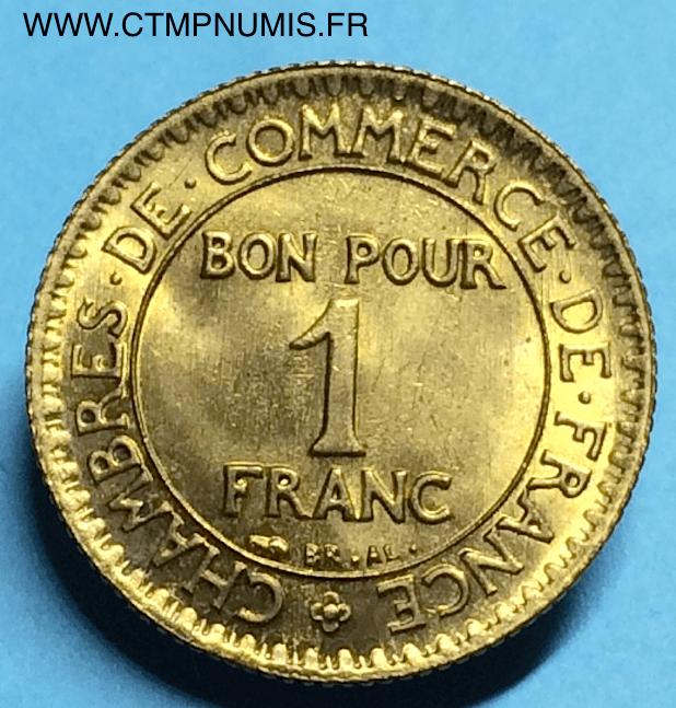 1 franc domard chambres de commerce 1927 sup ctmp numis for Chambre de commerce francaise en italie
