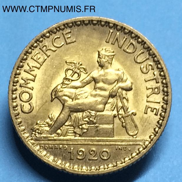 1 franc domard chambres de commerce 1920 sup ctmp numis for Chambre de commerce francaise en italie