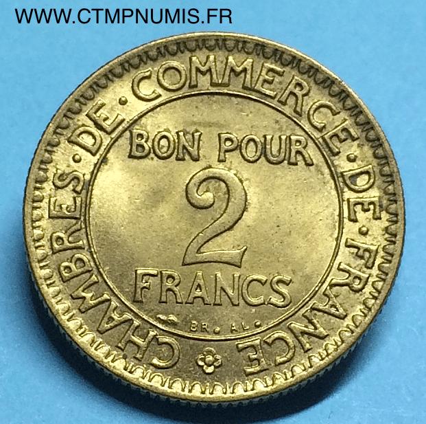 2 francs domard chambres de commerce 1922 sup ctmp numis for Chambre de commerce francaise en italie