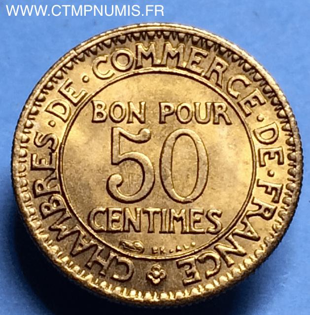 50 centimes domard chambres de commerce 1922 sup ctmp numis for Chambre de commerce francaise en turquie