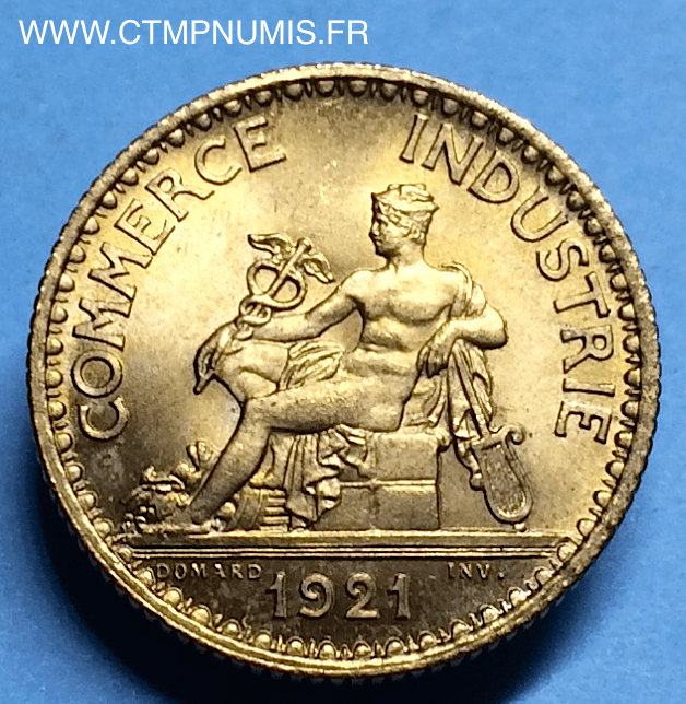 1 franc domard chambres de commerce 1921 spl ctmp numis for Chambre de commerce francaise en turquie