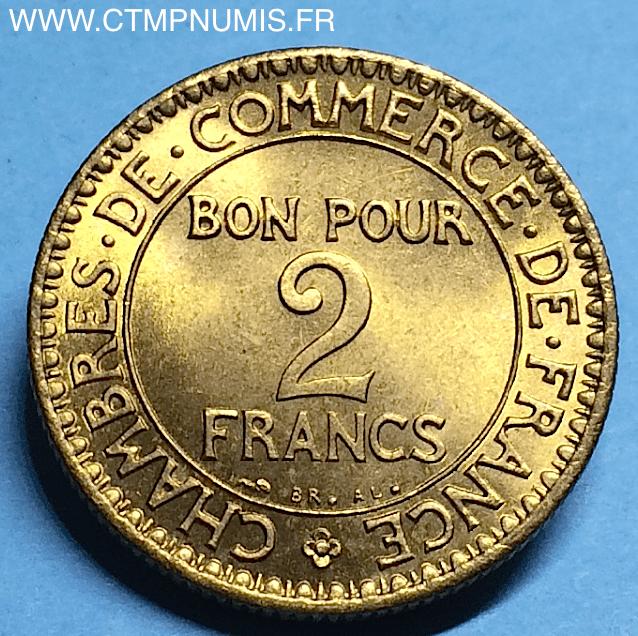2 francs domard chambres de commerce 1922 sup ctmp numis for Chambre de commerce suisse en france