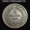 2 FRANCS ARGENT LOUIS PHILIPPE 1832 M TOULOUSE