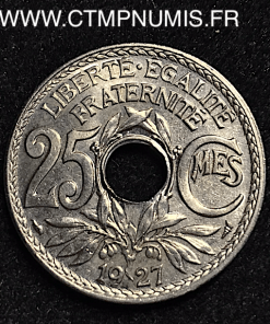 25 CENTIMES LINDAUER 1927 SPL