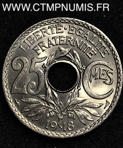 25 CENTIMES LINDAUER 1918 SPL