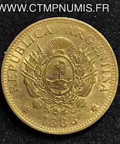ARGENTINE 5 PESOS 1 ARGENTINO OR 1888
