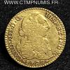 ESPAGNE 1 ESCUDO OR CHARLES III 1787 MADRID