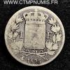 1 FRANC ARGENT CHARLES X 1825 M TOULOUSE