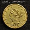 USA 2,5 DOLLAR OR LIBERTY 1851