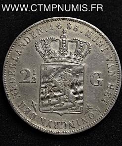 PAYS BAS 2 1/2 GULDEN ARGENT 1865
