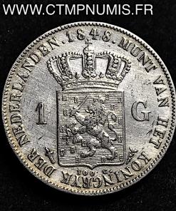 PAYS BAS 1 GULDEN ARGENT 1848 TTB
