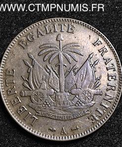 HAITI REPUBLIQUE 2 CENTIMES 1886 A PARIS