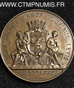 JETON BRONZE ASSURANCE L'INCENDIE LYON 1885
