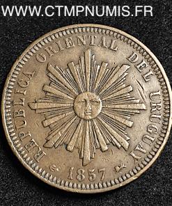 URUGUAY REPUBLIQUE 40 CENTIMOS 1857