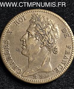 GUYANE 10 CENTIMES CHARLES X 1828 A PARIS