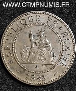INDOCHINE 1 CENTIEME 1885 A PARIS TTB+