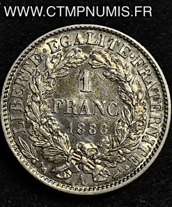 1 FRANC ARGENT CERES III° REPUBLIQUE 1888