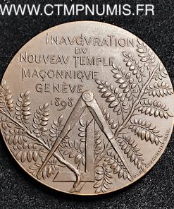 TEMPLE MACONIQUE DE GENEVE 1898 SUISSE