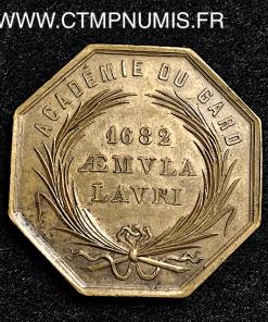 JETON ACADEMIE GARD 1682 NIMES R/ CROCODILE