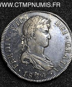 BOLIVIE 8 REALES ARGENT FERDINAND VII 1824