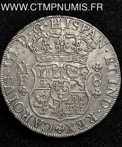 MEXICO 8 REALES ARGENT CHARLES III 1764 MF