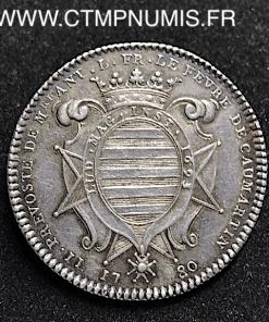 JETON ARGENT ILE DE FRANCE A. LE FEVRE 1780