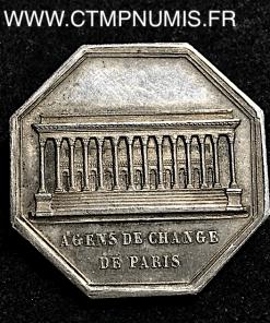 JETON ARGENT CHARLES X AGENS DE CHANGE DE PARIS 1825