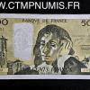 BILLET 500 FRANCS PASTEUR 1970