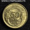 50 CENTIMES MORLON 1939 BRUXELLES B