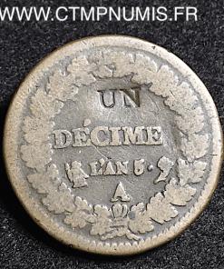 UN DECIME MODIFICATION 2 DECIMES AN 5 PARIS