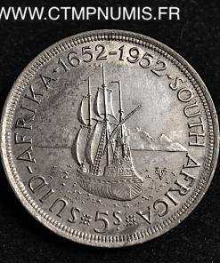 AFRIQUE DU SUD 5 SHILLINGS 1952