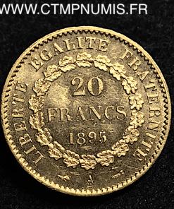 20 FRANCS OR GENIE III° REPUBLIQUE 1895 A