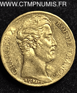 20 FRANCS OR CHARLES X 1825 A PARIS TTB