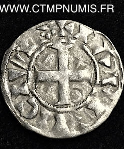 LOUIS VII DENIER ARGENT 3° TYPE FRANCO TTB
