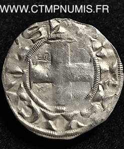LOUIS VII DENIER ARGENT 3° TYPE LUDOVICU.S