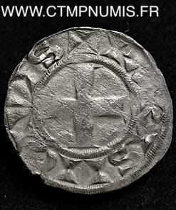 LOUIS VII DENIER ARGENT 3° TYPE INVERSE