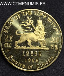 ETHIOPIE 200 DOLLARS OR GROS MODULE 1966