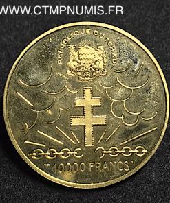 TCHAD 10.000 FRANCS OR GENERAL DE GAULLE 1960