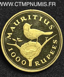 ILE MAURICE 1000 RUPEES OR ELISABETH II 1975