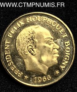 COTE D'IVOIRE 100 FRANCS OR HOUPHOUET 1966