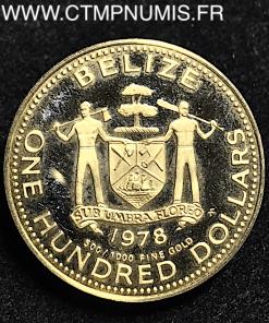 BELIZE 100 DOLLARS OR 1978