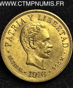 CUBA 10 PESOS OR 1916