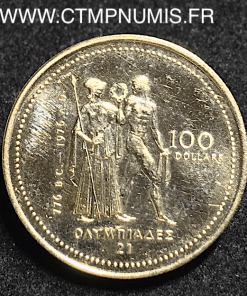 CANADA 100 DOLLARS OR JEUX OLYMPIQUES 1976