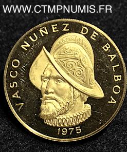 PANAMA 100 BALBOAS OR VASCO BALBOA 1975