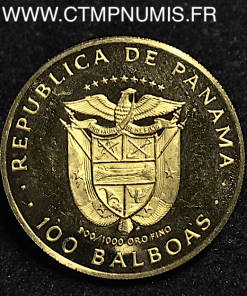 PANAMA 100 BALBOAS OR VASCO BALBOA 1975