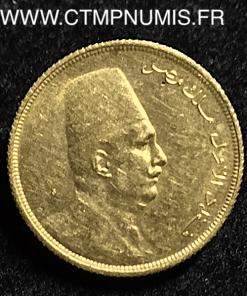 EGYPTE 20 PIASTRES OR 1923