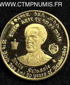 ETHIOPIE 10 DOLLARS OR HALLE SELASSIE 1966