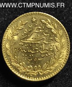 TURQUIE 25 PIASTRES OR 1293 (25)