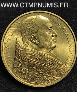 ITALIE VATICAN 100 LIRE OR PIE XI 1929 VIII ROME